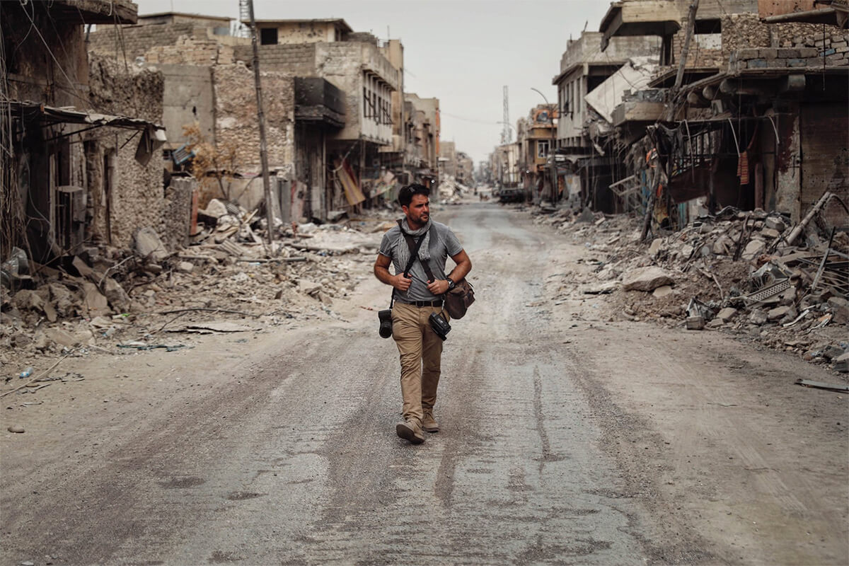 Levison Wood walks the streets of Mosul