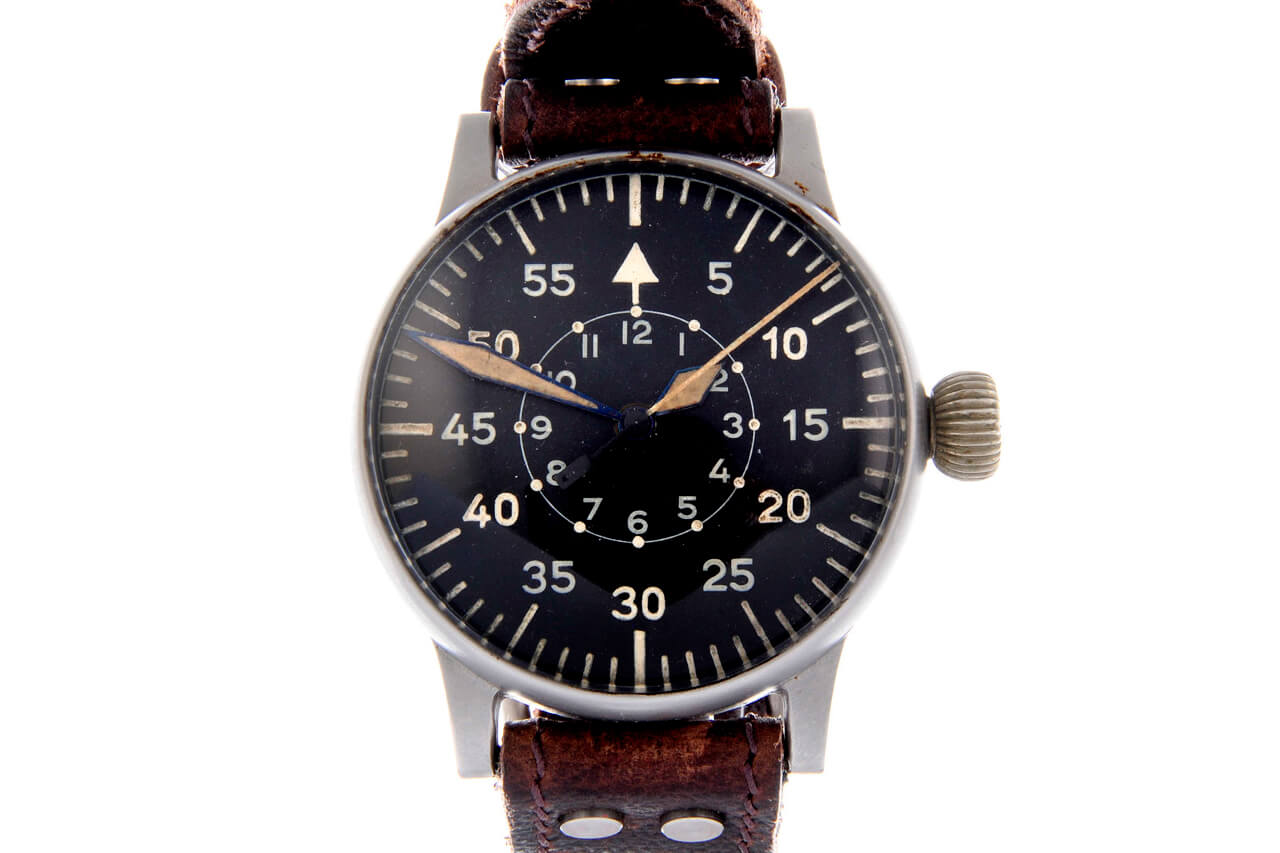 A. Lange & Söhne WW2 German Military Issue Pilot Wristwatch,
