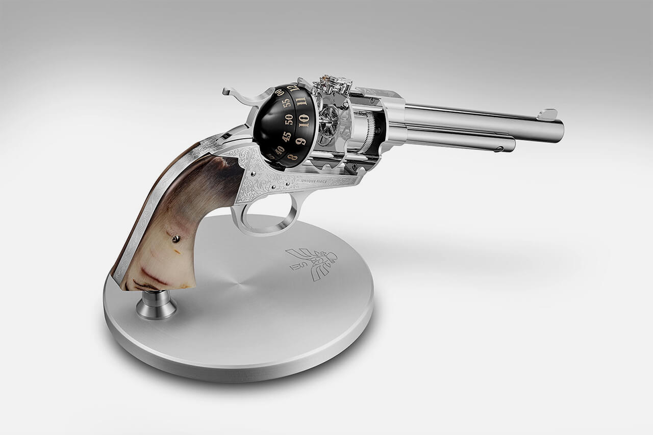 Revolver 8-Day Table Clock from L'Epee 1839 and The Unnamed Society