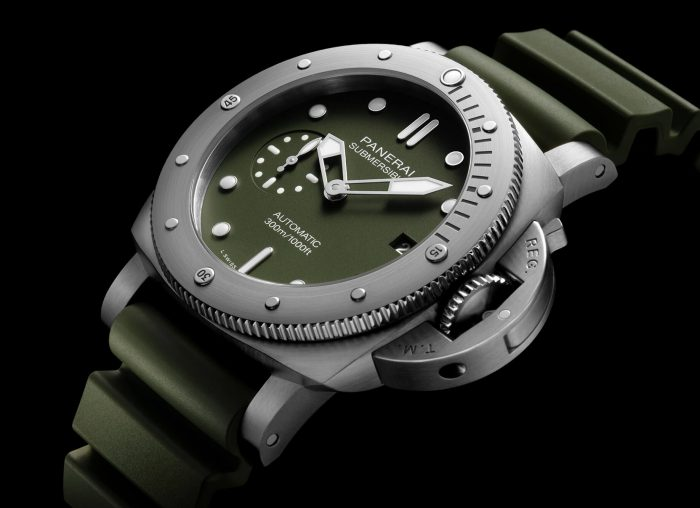 Panerai Submersible Verde Militare Watch