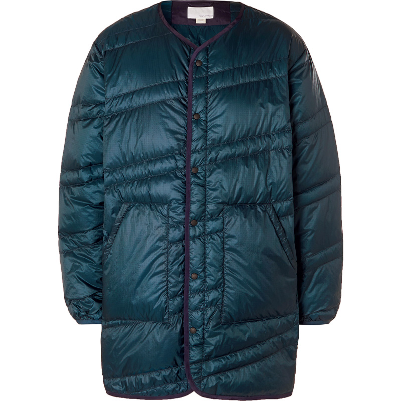 Quilted nylon ripstop down jacket