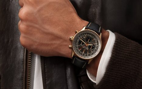 Breitling Navitimer B03 Chronograph Rattrapante 45 Red Gold