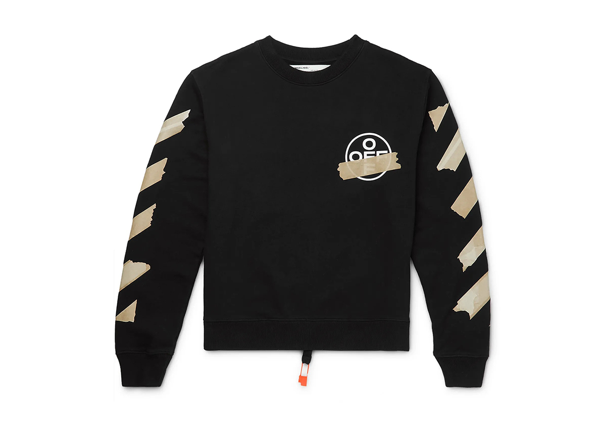 Off-white Logo Printed Jersey Sweater