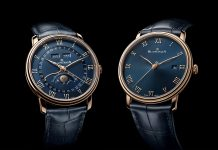 Blancpain Villeret Quantième Complet and the Ultraplate Watches with Blue Dials