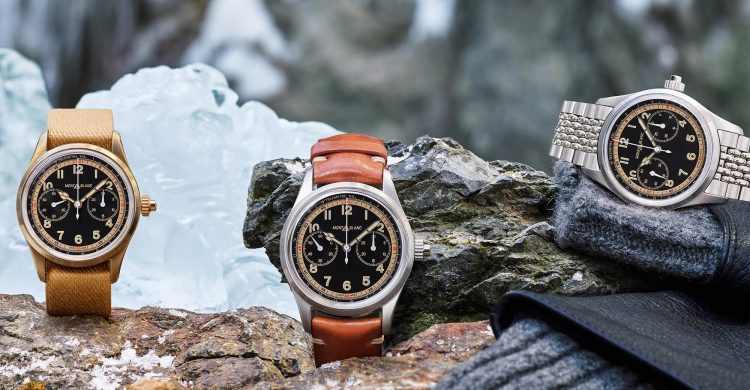 Montblanc 1858 Monopusher Chronograph In Steel And Bronze