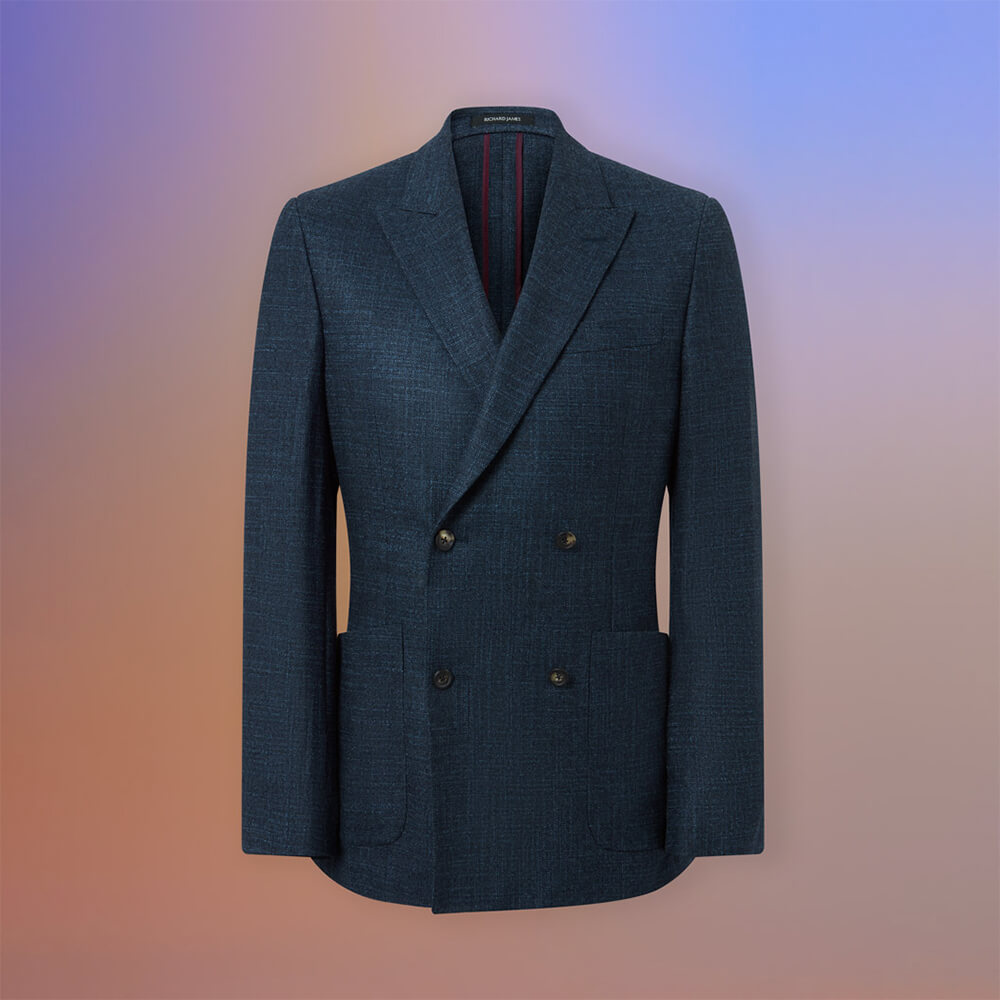 Richard James Spirit Double Breasted Jacket in Wool/silk Blend