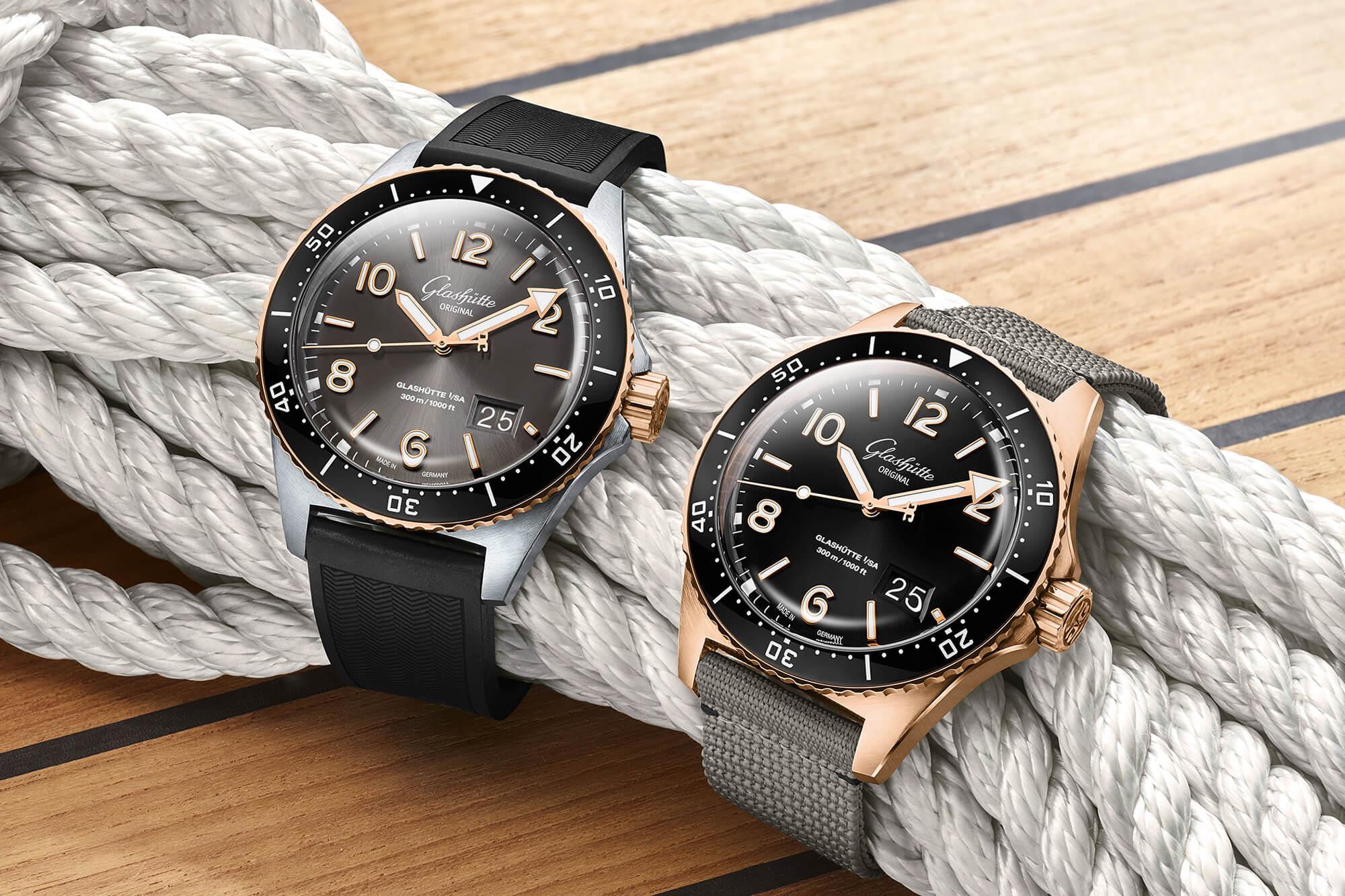 Introducing: Glashütte Original SeaQ Panorama Date Gold Models - Oracle Time