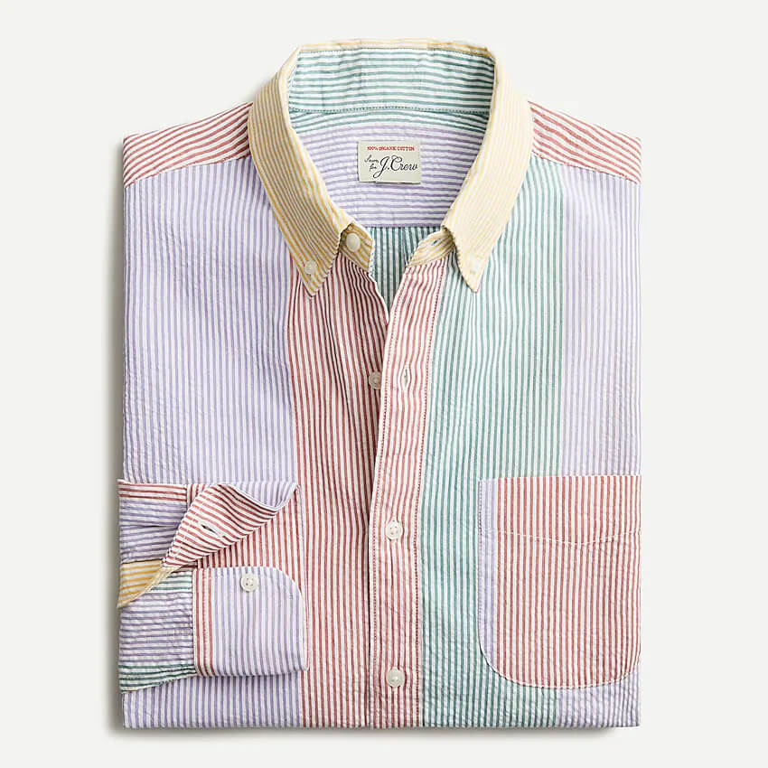 J. Crew Slim Seersucker Shirt