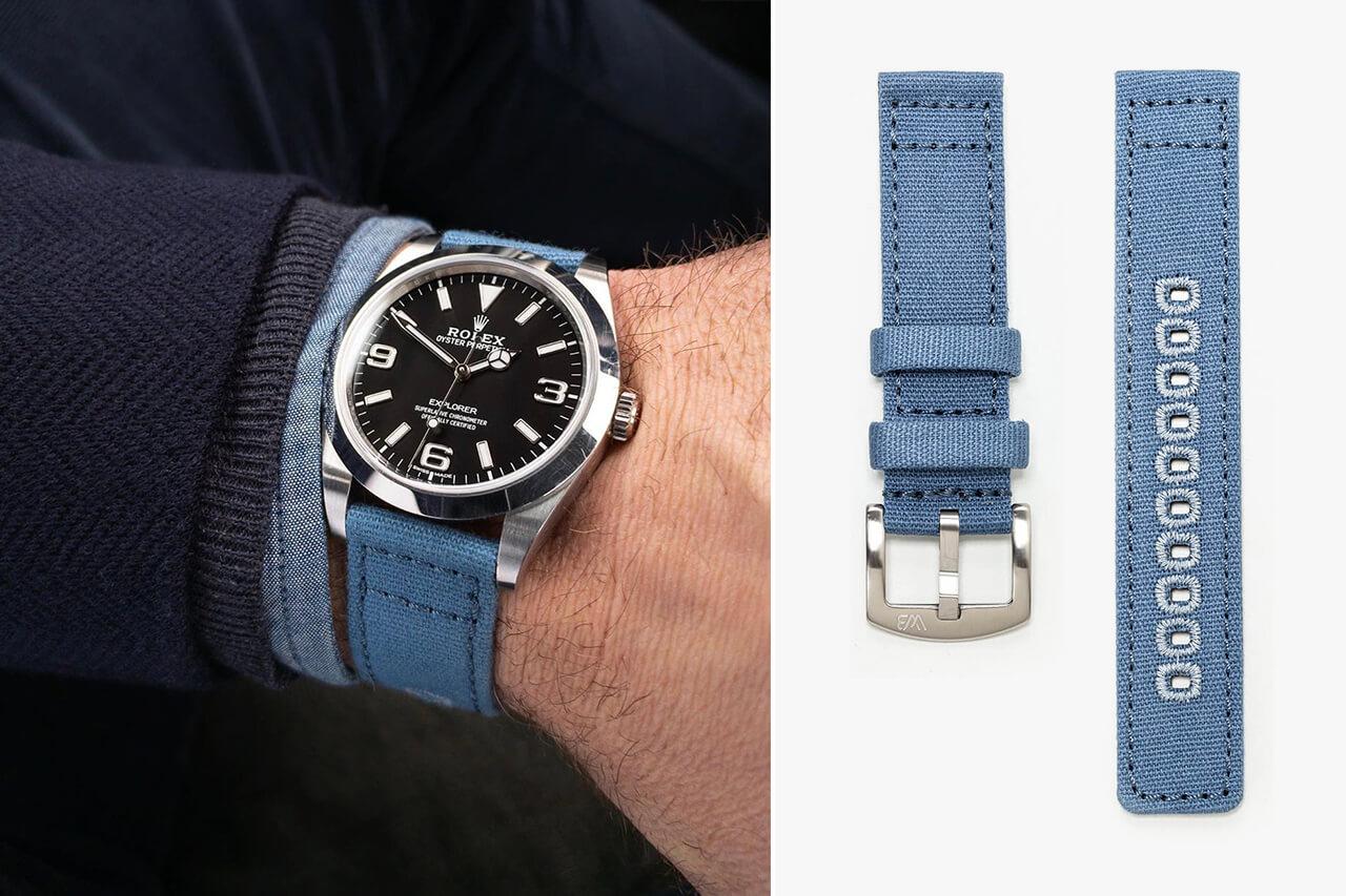 Watch Bandit Canvas Blue Watch Strap