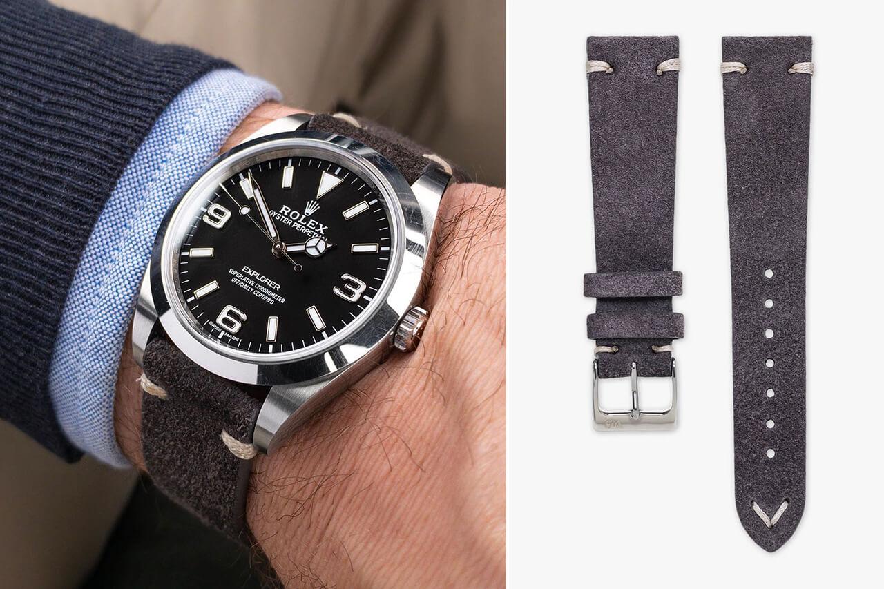 Watch Bandit Dark Grey Vintage Grey Watch Strap