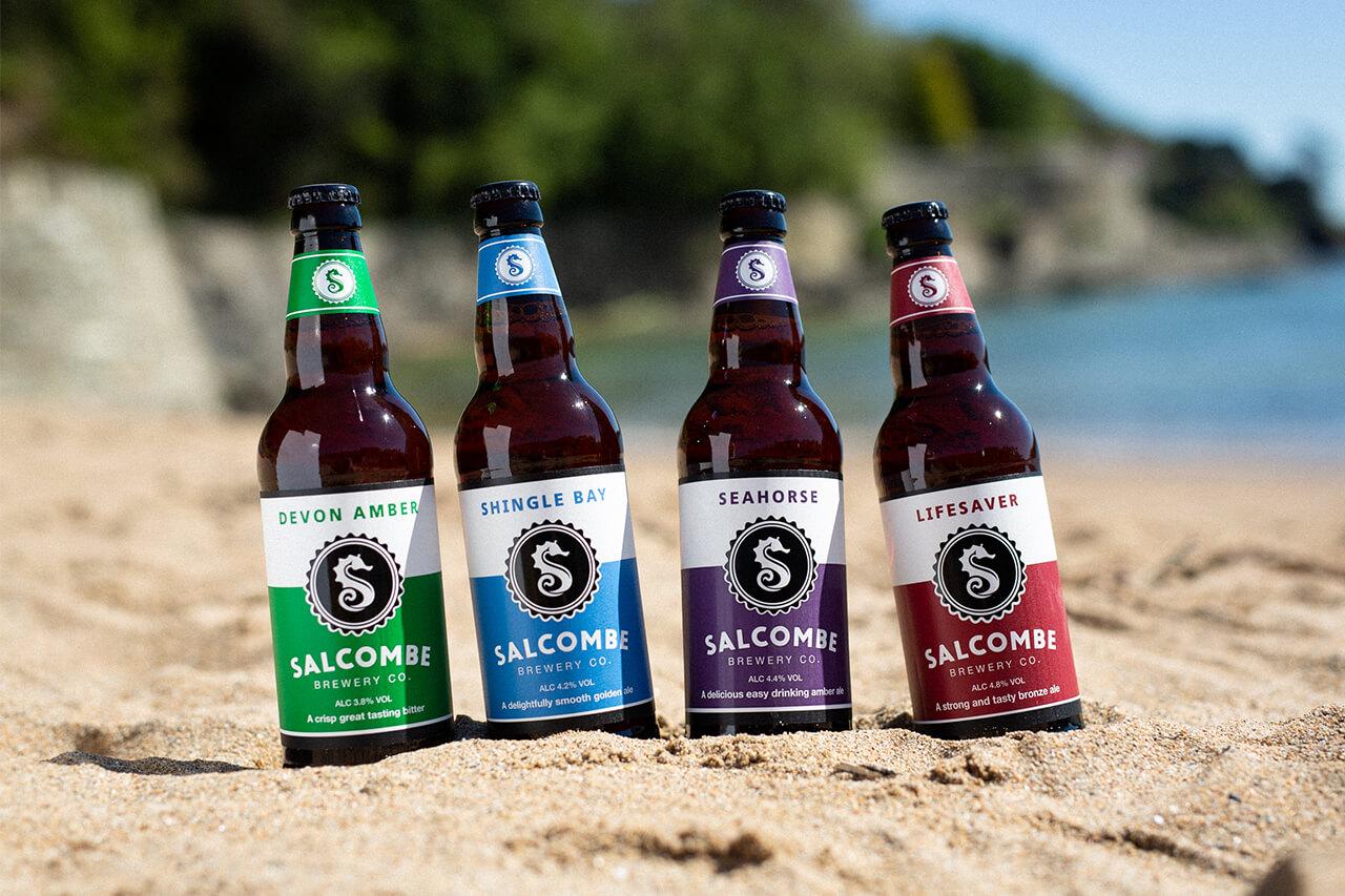 salcombe brewery bottles