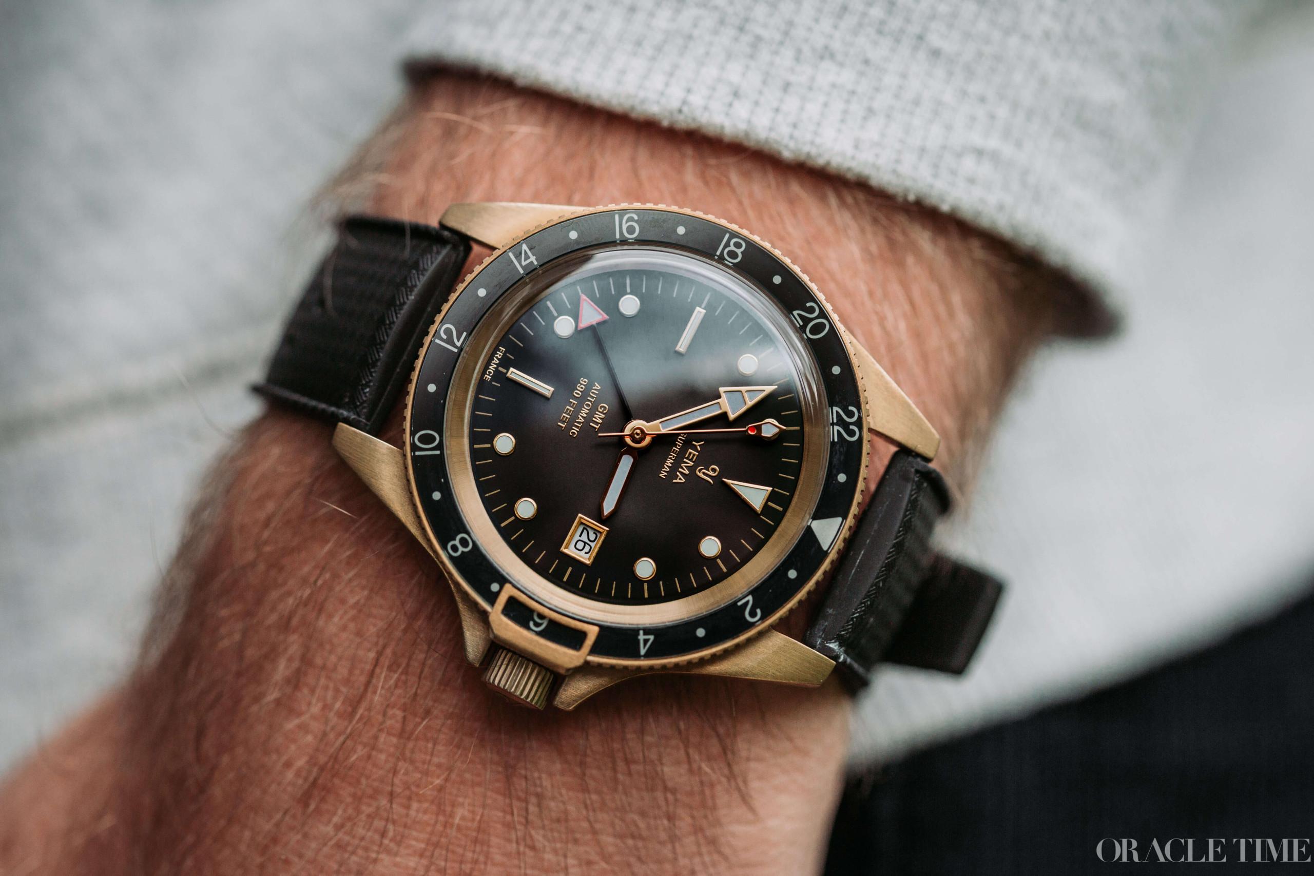 Yema Superman GMT Bronze Black dial watermarked