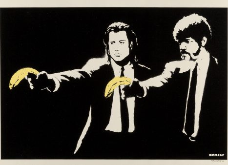 Banksy Pulp Fiction Screen-print feautred