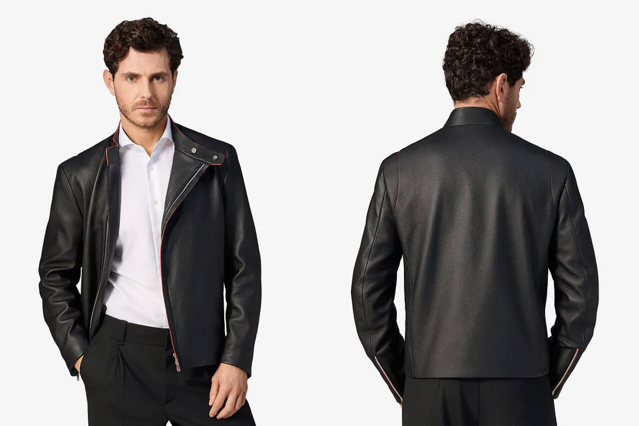 Ferrari Roma Leather Jacket