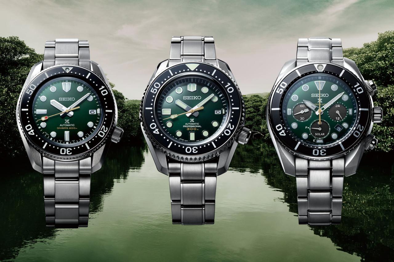 Green Seiko Prospex Divers 140th Anniversary Limited Editions