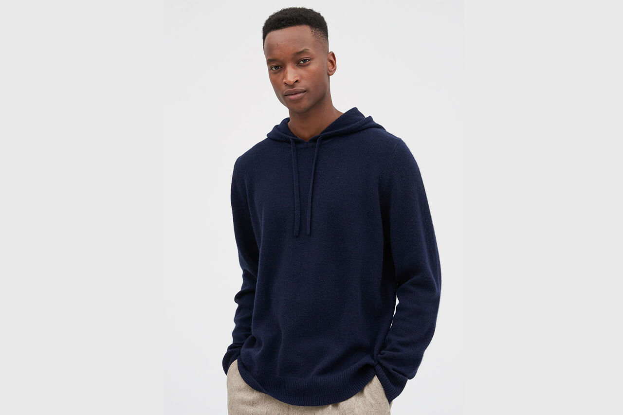 A Day's March Cashmere-Wool Hoodie