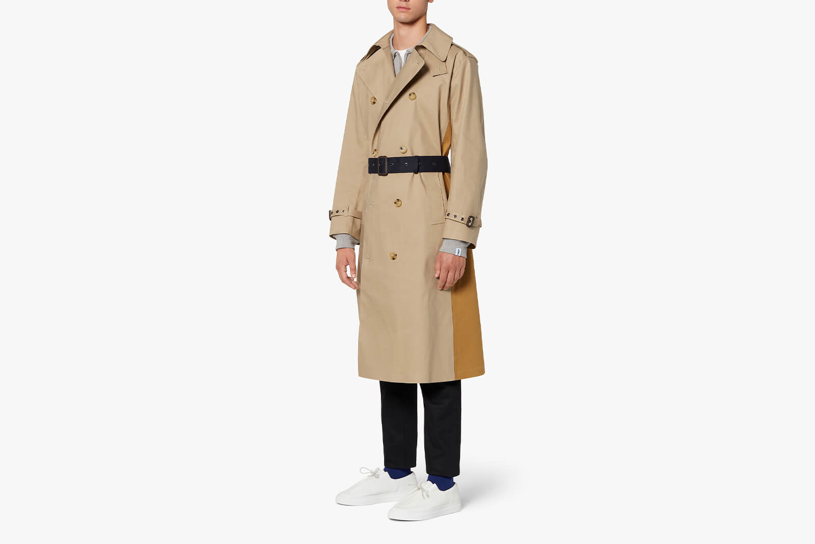 Berlin Fawn X Ink Bonded Cotton Trench Coat