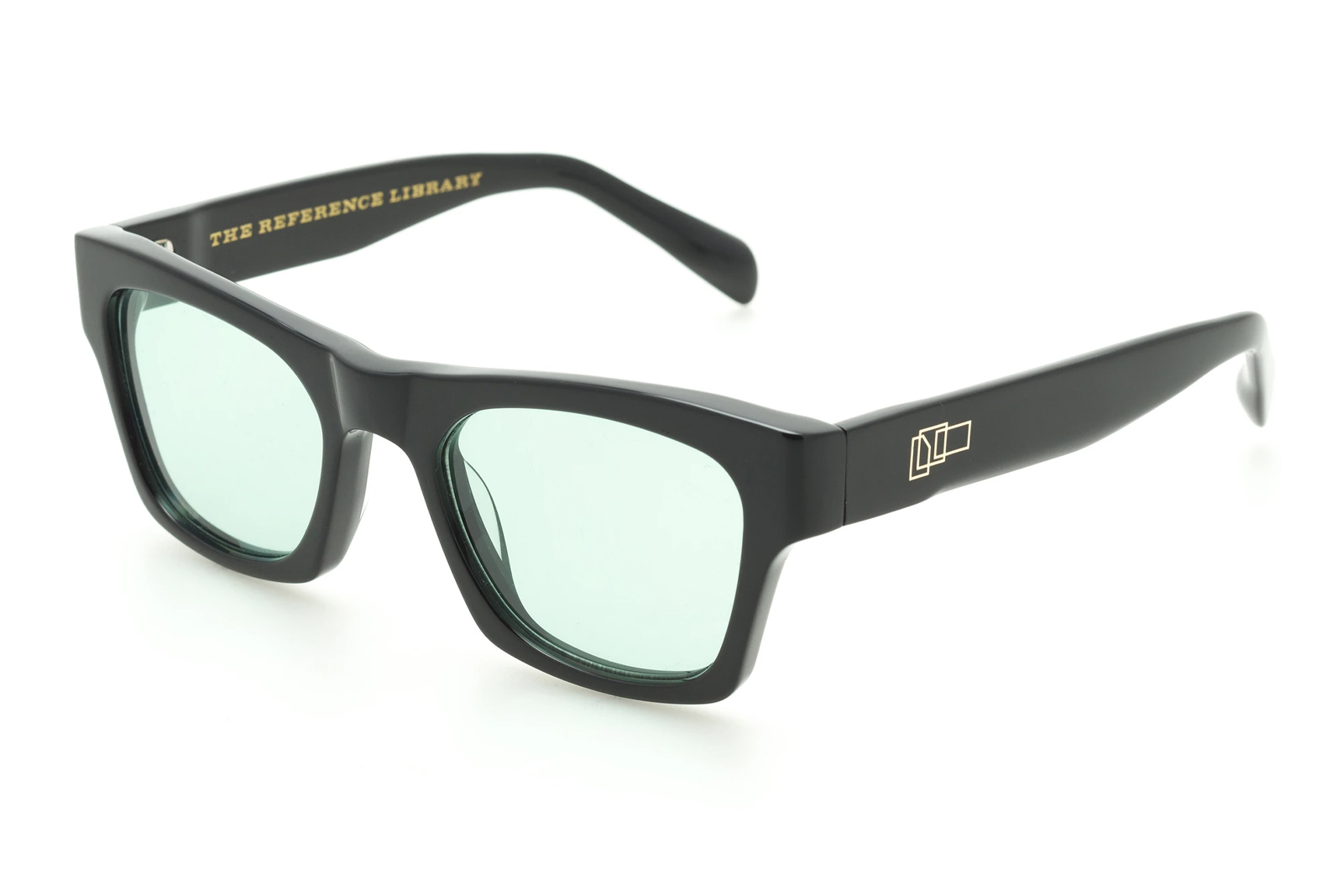 The Reference Library 'Eddie' Black Sunglasses