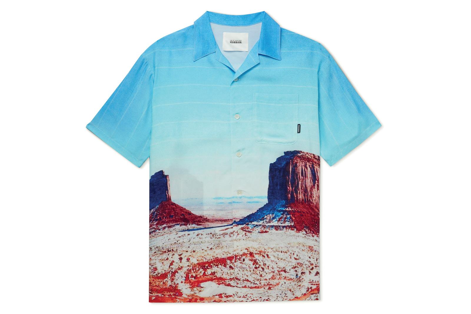 Neighbourhood X One of These Days Camp Collar Printed Woven Shirt