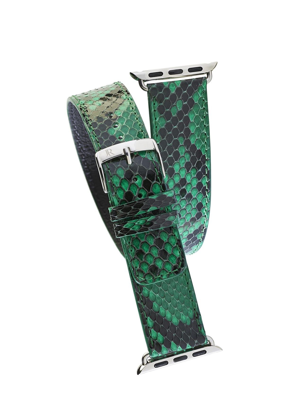 Jean Rousseau Double Wrap Python Sand Apple Watch Strap